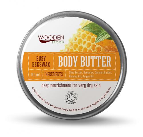Znalezione obrazy dla zapytania Wooden Spoon Organiczne masło do ciała Busy Beeswax